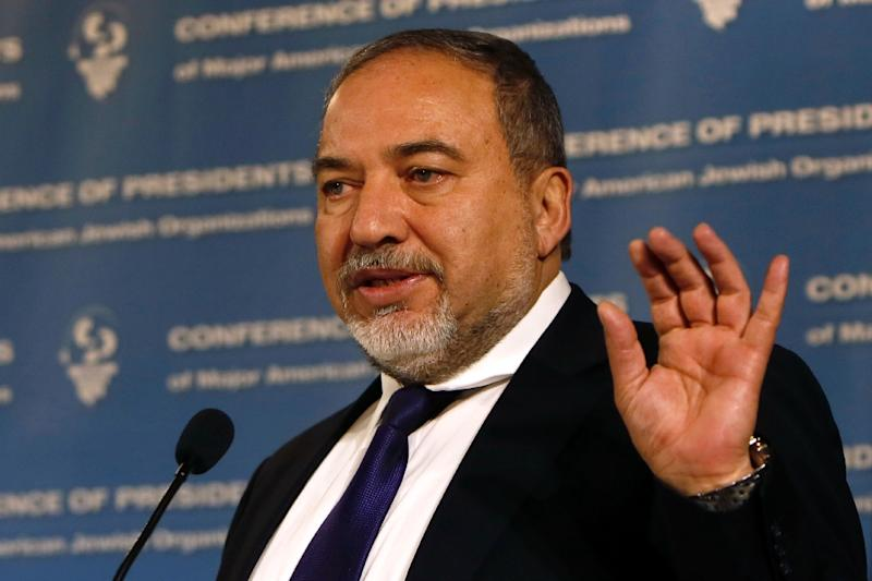 """Israel has flatly denied accusations of spying on Iran nuclear talks, with Foreign Minister Avigdor Lieberman, seen here in Jerusalem on February 15, 2015, denouncing the report as """"incorrect and inaccurate"""""""