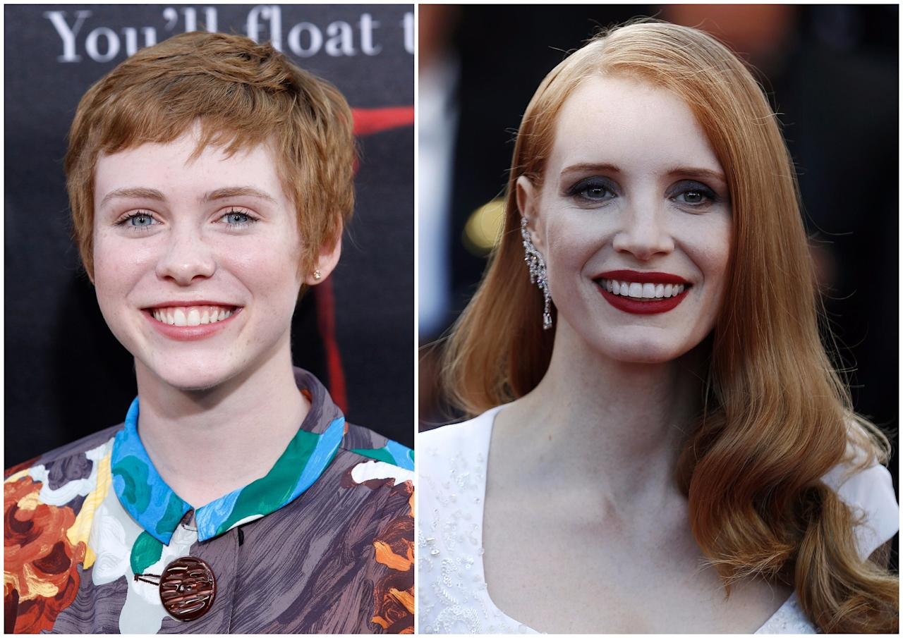 <p>Chastain seems an obvious contender to take over as the one female Loser, not only because she has the right hair, but also as she previously worked with director Andy Muschietti on 'Mama.' Plus, current Beverley actress Sophia Lillis has suggested her for the part. (Picture credit: WENN) </p>