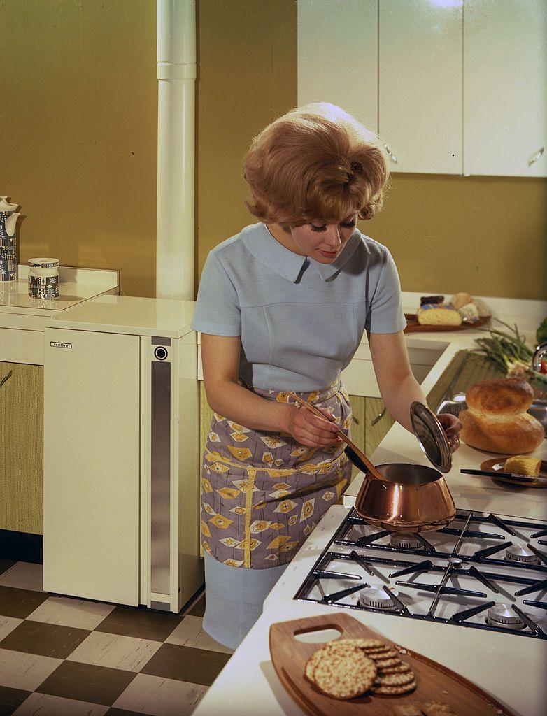 """<p>While you probably don't need to save bits of fat for frying foods like my gram's wartime cookbook suggests, freeze leftovers or food tidbits you don't need for a later use. For example, save chicken wings or turkey necks for making <a href=""""http://www.thefrugalgirl.com/2014/11/how-to-make-chicken-broth-that-is-actually-tasty/"""" rel=""""nofollow noopener"""" target=""""_blank"""" data-ylk=""""slk:soup"""" class=""""link rapid-noclick-resp"""">soup</a> stock. Toss bits of bacon, ham, or cheese on salads, or freeze until you have enough for a frittata or quiche. Veggies that are past their prime can be sautéed into omelets or scrambles or baked into muffins or quick breads. Just think how proud Grandma would be of your thrifty ways!</p>"""