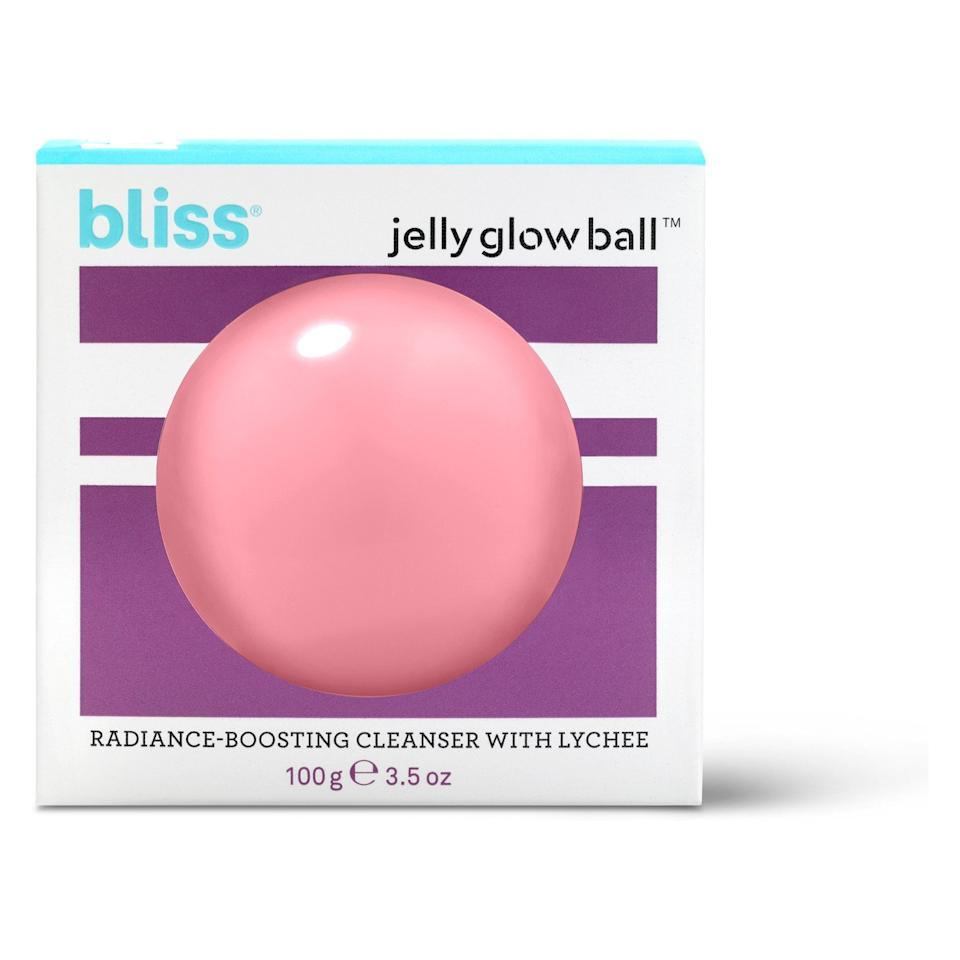 """<p><a rel=""""nofollow"""" rel=""""nofollow"""">Bliss Jelly Glow Ball Radiance-Boosting Cleanser With Lychee</a> ($13) </p>"""