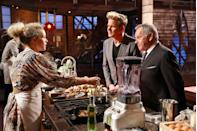 "<p>The first day of filming can be a bit overwhelming, because that's when contestants are taken to the kitchen set for the first time and meet the judges. <a href=""https://tv.avclub.com/what-it-s-like-to-be-a-contestant-on-masterchef-1798282063"" rel=""nofollow noopener"" target=""_blank"" data-ylk=""slk:Mayfield said"" class=""link rapid-noclick-resp"">Mayfield said</a>: ""And then Gordon Ramsay walks out and, like, Joe [Bastianich] and Graham [Elliot]. I think there is this moment of me, if I remember from the first episode, where I'm fanning myself and crying and that is totally legit. I was super overwhelmed.""</p>"