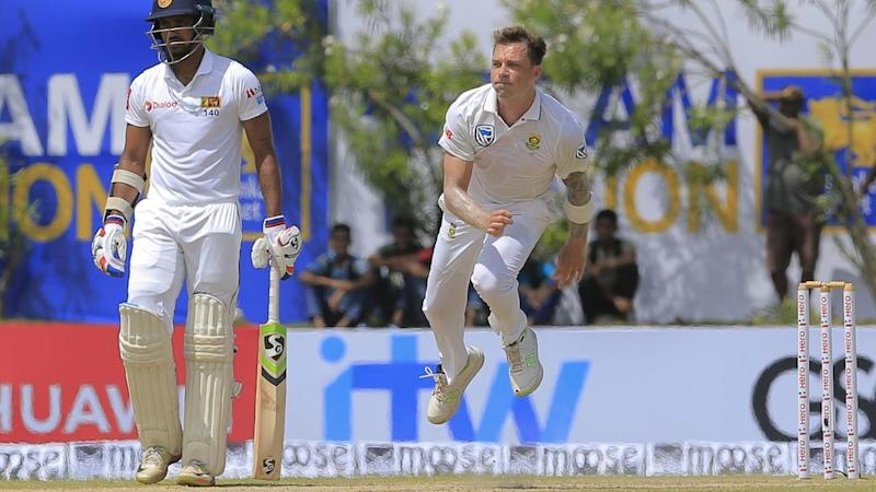 South African veteran Dale Steyn claimed his 421st Test wicket to equal South Africa's record