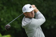 Lucas Glover hits off the second tee during the final round of the John Deere Classic golf tournament, Sunday, July 11, 2021, at TPC Deere Run in Silvis, Ill. (AP Photo/Charlie Neibergall)