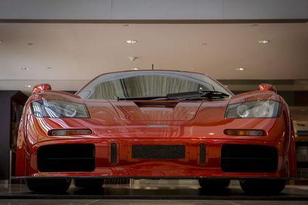 A McLaren F-1 LM-Specification car is displayed at Sotheby's in New York June 3, 2015. REUTERS/Brendan McDermid