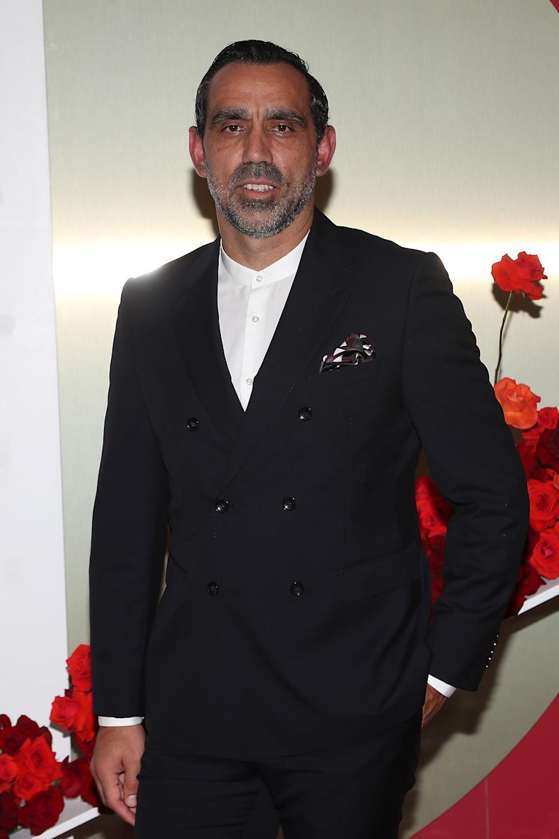 Adam Goodes attends the Gala Runway 1 show at Melbourne Fashion Festival on March 10, 2020 in Melbourne, Australia.  (Photo: Graham Denholm via Getty Images)