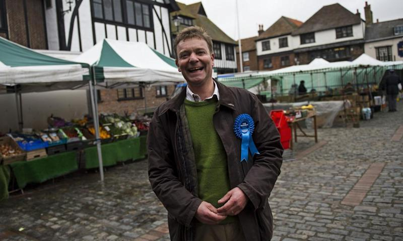 Craig Mackinlay during his successful campaign to win South Thanet for the Tories in May 2015