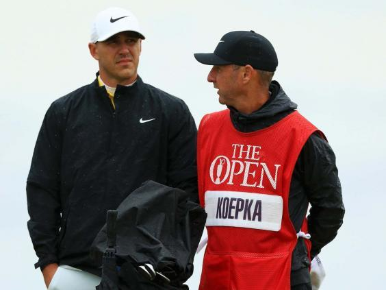 Brooks Koepka grew increasingly frustrated with JB Holmes' slow play (Getty)