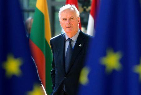 EU's chief Brexit negotiator Michel Barnier arrives at an European Union leaders summit in Brussels