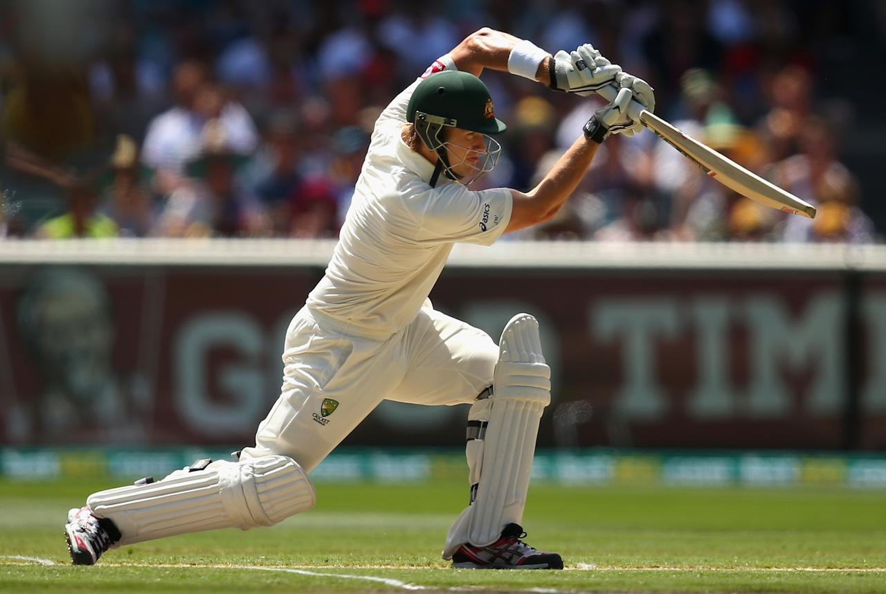 MELBOURNE, AUSTRALIA - DECEMBER 27: Shane Watson of Australia bats during day two of the Second Test match between Australia and Sri Lanka at Melbourne Cricket Ground on December 27, 2012 in Melbourne, Australia.  (Photo by Ryan Pierse/Getty Images)