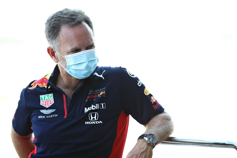 "Christian Horner<span class=""copyright"">Red Bull Content Pool</span>"