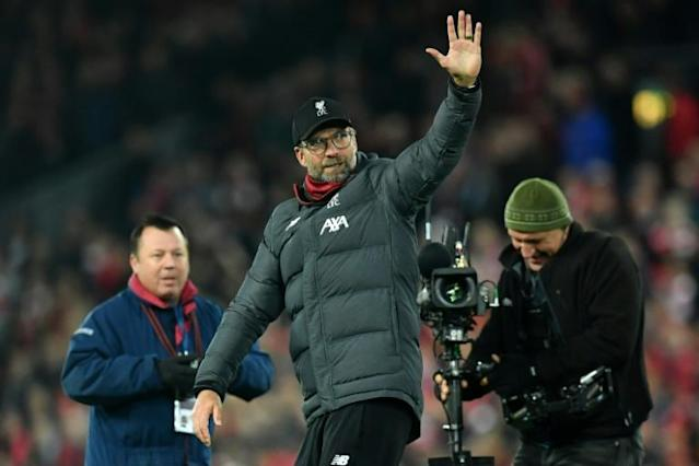 Klopp knows his side will now be under pressure to end their league title drought (AFP Photo/Paul ELLIS)