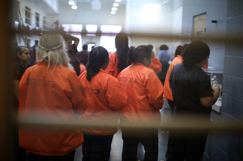 Detainees are seen at Otay Mesa immigration detention center in San Diego, California, on May 18, 2018. (Photo: Lucy Nicholson / Reuters)
