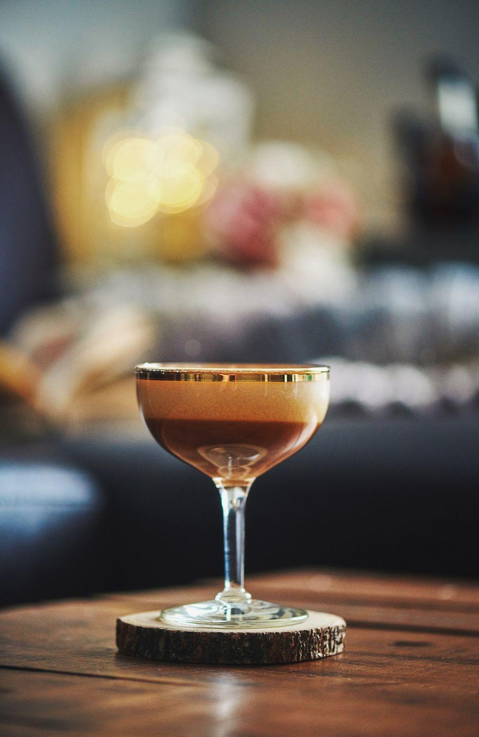 "<p>This now-classic cocktail combines espresso, vodka, and Kahlúa liqueur into a frothy pick-me-up. </p><p><strong>Pro tip: </strong>It was first coined the Vodka Espresso in 1983 by late bartender Dick Bradsell of the Soho Brasserie, who allegedly crafted the drink at the request of a British top model.<em><br><br><a href=""https://www.absolutdrinks.com/en/drinks/espresso-martini/"" rel=""nofollow noopener"" target=""_blank"" data-ylk=""slk:Get the recipe for Espresso Martini from Absolut »"" class=""link rapid-noclick-resp"">Get the recipe for Espresso Martini from Absolut »</a></em></p>"