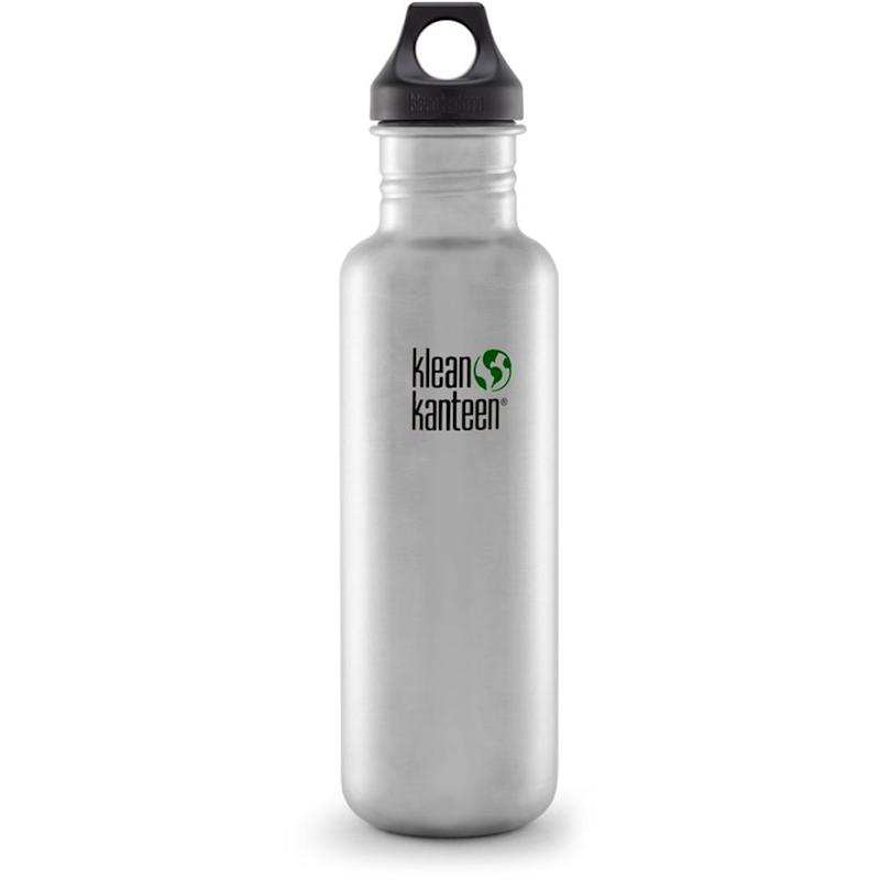 "Stainless steel doesn't retain or impart flavors so this <a href=""https://www.amazon.com/Klean-Kanteen-Classic-27-Ounce-Stainless/dp/B0093IRGZM/ref=sr_1_7?s=sporting-goods&ie=UTF8&qid=1518557090&sr=1-7"" target=""_blank"">water bottle is a perfect all-day option</a>. Not only that, it contains no BPA, phthalates, lead, or other toxins.<br /><br /><strong>Amazon Reviews:</strong> 1,308<br /><strong>Average Rating:</strong> 4.5 out of 5 stars<br /><br /><i>""This canteen is large and easy to carry. It is clean and because it isn't one of the painted ones, it goes in the dishwasher with ease. I absolutely love this and I bought it to help in cutting back on plastic water bottles."" - Amazon Reviewer</i>"