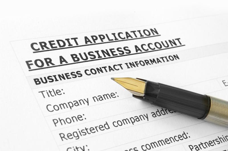 A business credit application