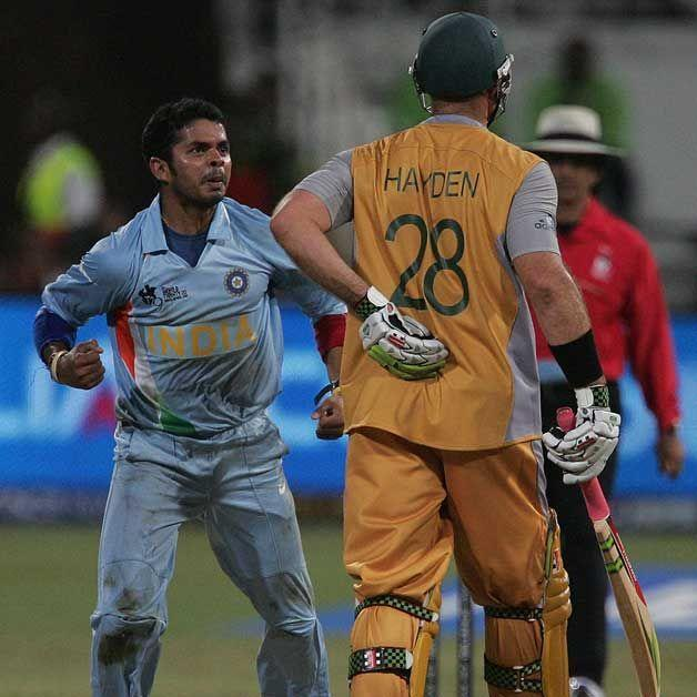 Image result for sreesanth 2/12 vs Australia, Durban (2007 World T20)