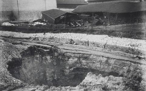 Pol Roger cellar and buildings collapsed on February 23, 1900 - Credit: Pol Roger