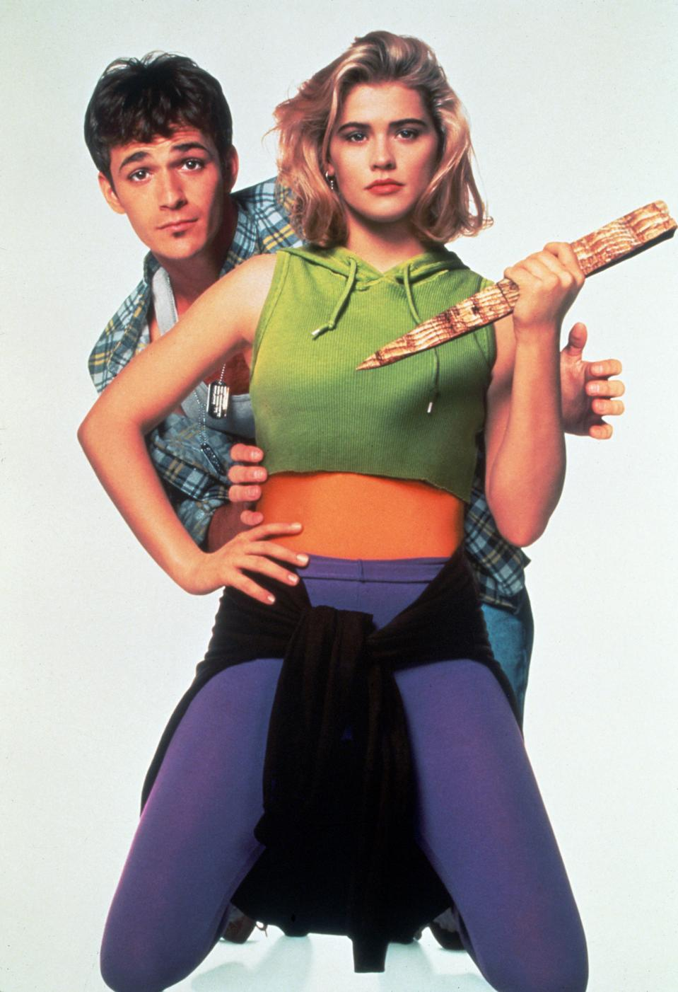 Editorial use only Mandatory Credit: Photo by Snap/REX/Shutterstock (390889he) FILM STILLS OF 'BUFFY, THE VAMPIRE SLAYER' WITH 1992, FRAN RUBEL KUZUI, LUKE PERRY, KRISTY SWANSON IN 1992 VARIOUS