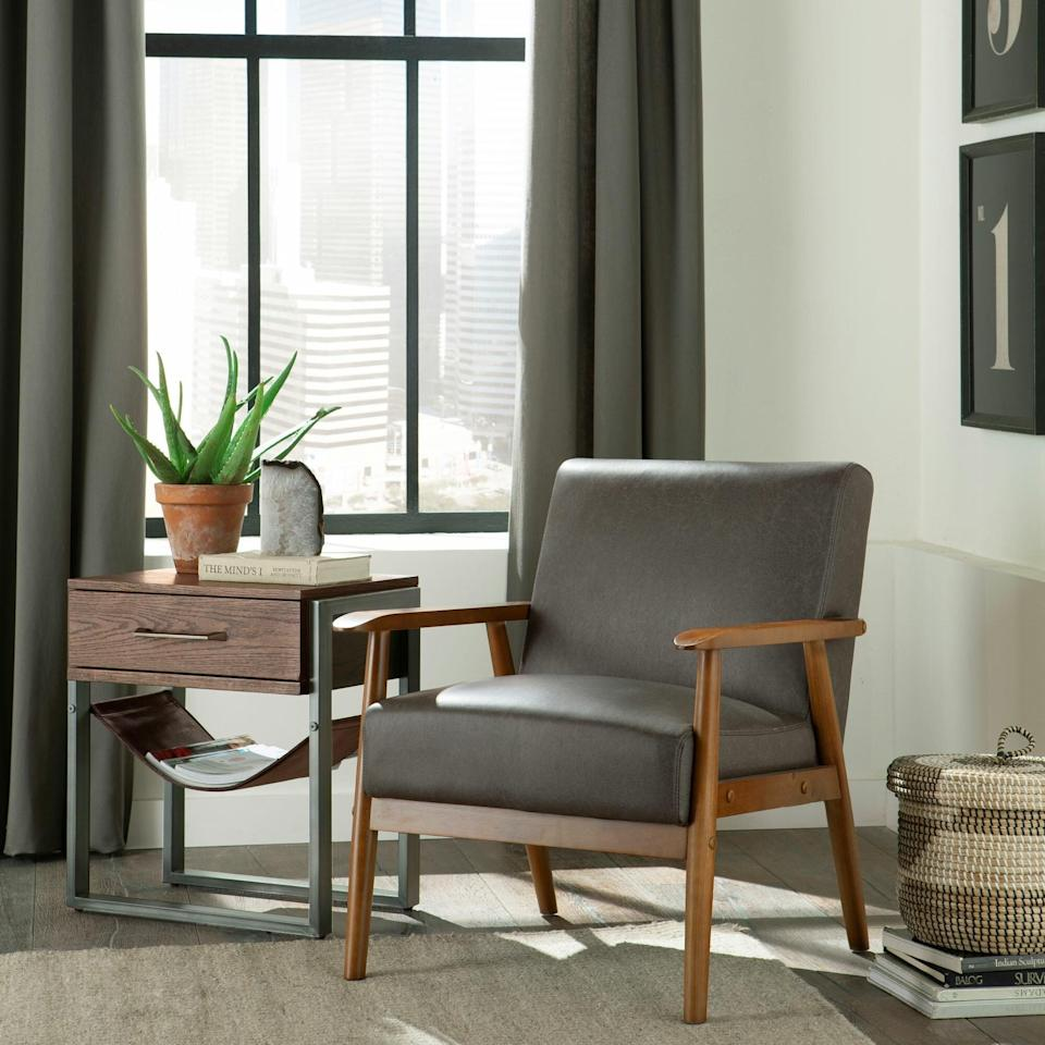 """<h2>George Oliver Jarin 25.38"""" Wide Armchair</h2><br><strong>Flash Deal: 56% off</strong><br>If a wood-framed chair with style, comfort, and durability sounds like a dream come true to you, have a look-see at this George Oliver armchair. In just a few days you can sit back and relax in your brand new vintage seat knowing that you got the absolute best price.<br><br><em>Shop</em> <strong><em><a href=""""https://www.wayfair.com/brand/bnd/george-oliver-b44316.html"""" rel=""""nofollow noopener"""" target=""""_blank"""" data-ylk=""""slk:George Oliver"""" class=""""link rapid-noclick-resp"""">George Oliver</a></em></strong><br><br><strong>George Oliver</strong> Jarin 25.38"""" Wide Armchair, $, available at <a href=""""https://go.skimresources.com/?id=30283X879131&url=https%3A%2F%2Fwww.wayfair.com%2Ffurniture%2Fpdp%2Fgeorge-oliver-jarin-2538-wide-armchair-w004333638.html"""" rel=""""nofollow noopener"""" target=""""_blank"""" data-ylk=""""slk:Wayfair"""" class=""""link rapid-noclick-resp"""">Wayfair</a>"""