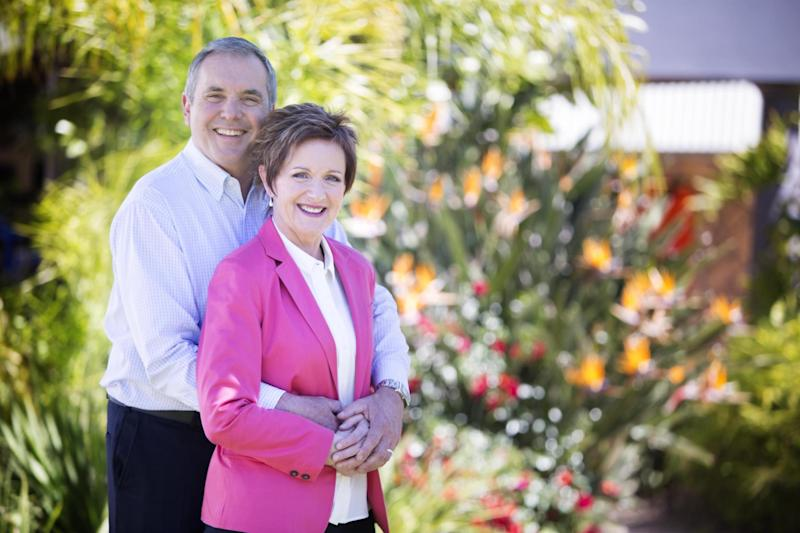 Neighbours actors Alan Fletcher and Jackie Woodburne, who played Karl and Susan Kennedy: PA