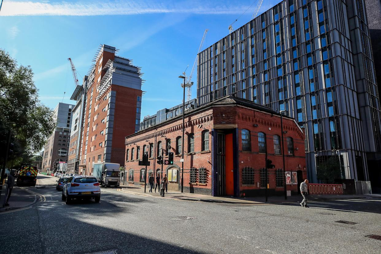 A general view of the apartment Montana House next to the night club The Factory in Manchester. Reynhard Sinaga, 36, has been jailed at Manchester Crown Court for life and must serve a minimum of 30 years after he was convicted of offences against 48 men. (Photo by Peter Byrne/PA Images via Getty Images)