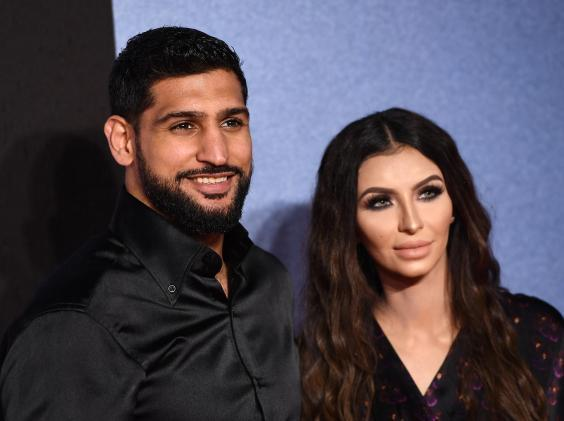 Amir Khan and his wife, Faryal Makhdoom (Getty)