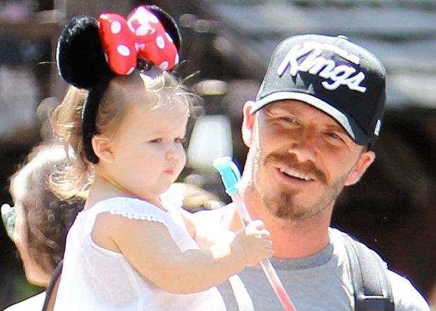 Celebrity photos: We seriously cooed over these snaps of Harper Beckham and David Beckham hanging out in Disneyland this week. Just when we thought Harper couldn't get any cuter, she goes and dons a pair of Minnie Mouse ears. Our hearts are melting.