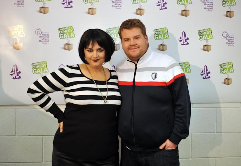Ruth Jones and James Corden, backstage at the Channel 4 Comedy Gala, in aid of Great Ormond Street Hospital, at the O2 Arena, London.Picture date: Tuesday March 30, 2010. (Photo by Ian Nicholson/PA Images via Getty Images)
