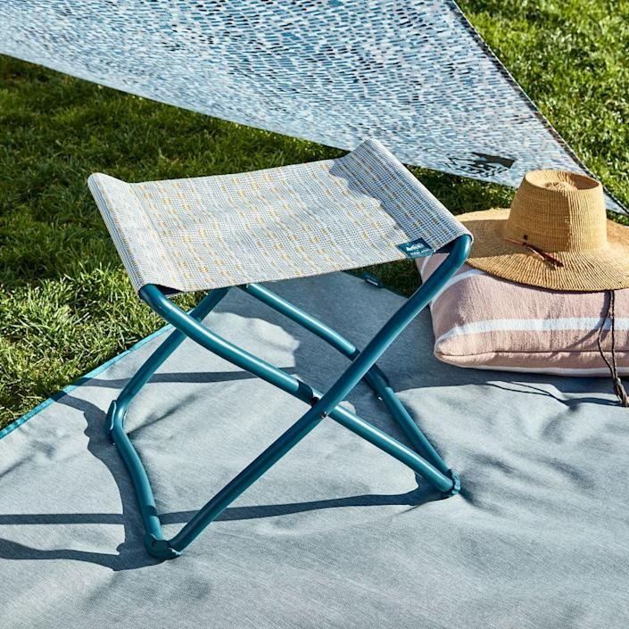"""I spend half of my time sitting outside in an Rei x West Elm folding chair, so I can attest to the durability and aesthetic quality of the collaboration. This stool would be a great car and travel companion. $40, West Elm. <a href=""""https://www.westelm.com/products/rei-co-op-outward-stool-h8144/?pkey=crei-collaboration"""" rel=""""nofollow noopener"""" target=""""_blank"""" data-ylk=""""slk:Get it now!"""" class=""""link rapid-noclick-resp"""">Get it now!</a>"""