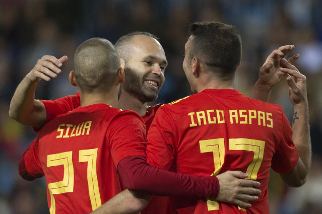 Spain is among the favorites at the 2018 World Cup. (Getty)