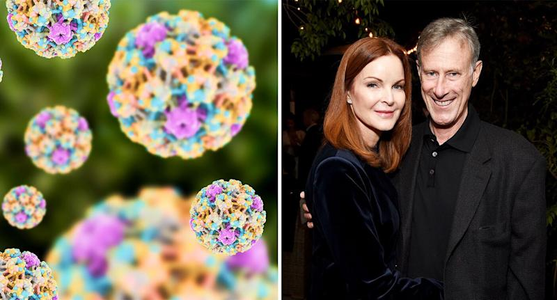 Marcia Cross pictured with husband Tom Mahoney. [Photo: Getty]