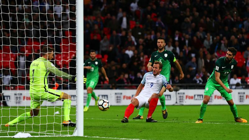 England 1 Slovenia 0: Late Kane goal sends Three Lions to World Cup