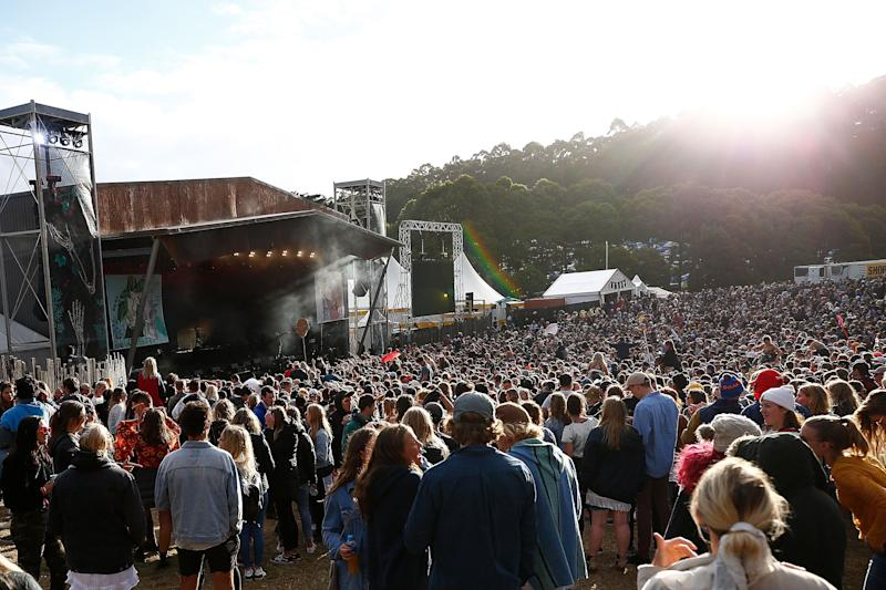 LORNE, AUSTRALIA - DECEMBER 31: A general view of the crowd at the Valley Stage at Falls Festival on December 31, 2017 in Lorne, Australia. (Photo by Lagerhaus/WireImage) (Photo: Lagerhaus via Getty Images)