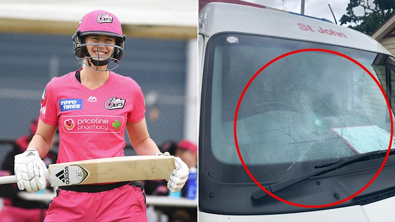 This St John Ambulance vehicle felt the wrath of Ellyse Perry in the WBBL.