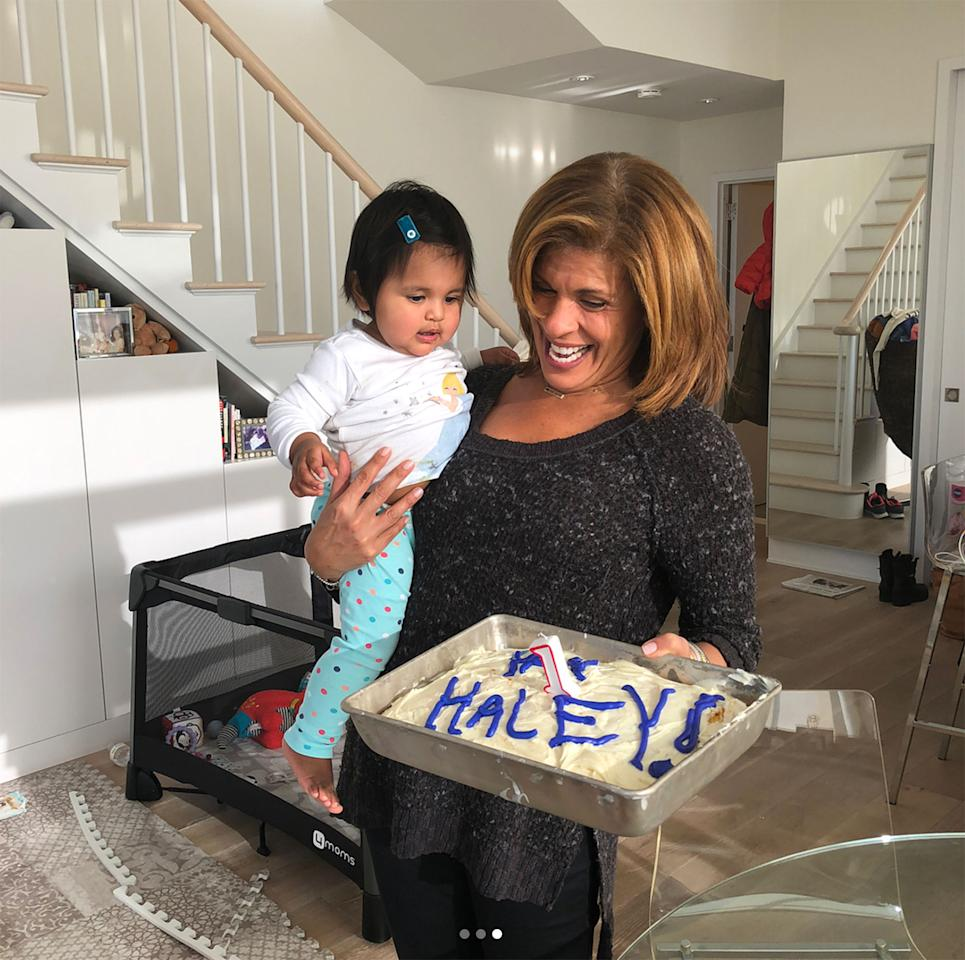 """<p><a rel=""""nofollow"""" href=""""http://people.com/babies/hoda-kotb-celebrates-daughter-turning-1-abroad/"""">Happy birthday, Haley Joy! </a>The <em>Today</em> show anchor celebrated her daughter's first birthday on Valentine's Day from afar since she was working from PyeongChang for the Winter Olympics.  """"It's already Valentine's Day in South Korea and I am missing my Valentine's baby! We celebrated little Haley's bday before I left,"""" Hoda captioned an Instagram video of her singing """"Happy Birthday.""""</p>"""
