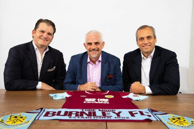 ALK Capital partners Mike Smith, Alan Pace (centre) and Stuart Hunt following their takeover at Burnley