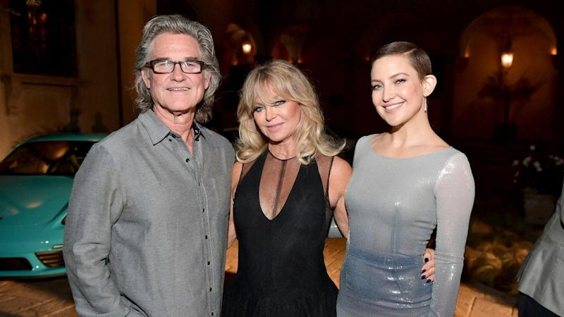 Kate Hudson Shares Precious Pic of Goldie Hawn and Kurt Russell Cradling Their Baby Granddaughter