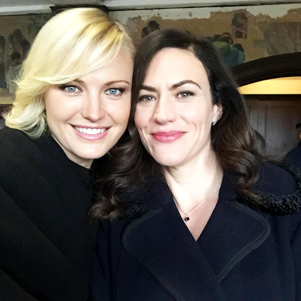 """<p>Couldn't love this one more. Although Ms. Wendy Rhodes better keep her distance from my man. #laraaxelrodwillcutyou #billions — <a href=""""https://www.instagram.com/therealmalinakerman/"""" rel=""""nofollow noopener"""" target=""""_blank"""" data-ylk=""""slk:@therealmalinakerman"""" class=""""link rapid-noclick-resp"""">@therealmalinakerman</a></p><p><i>(Credit: Instagram)</i><br></p>"""