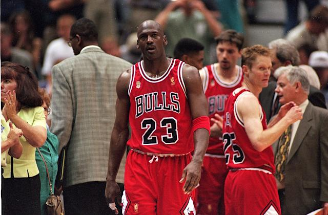 With the likes of Bill Russell, Kareem Abdul-Jabbar and LeBron James also in the GOAT debate, one wonders if Michael Jordan's remorseless behavior is actually an outlier when it comes to winning championships, and not the rule. (Brian Bahr /Allsport)