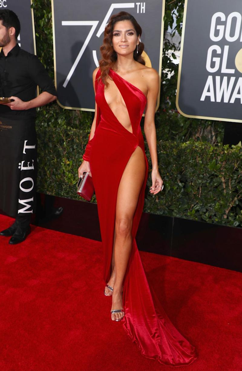 Blanca Blanco wore a risqué dress on the Golden Globes red carpet. Photo: Getty Images