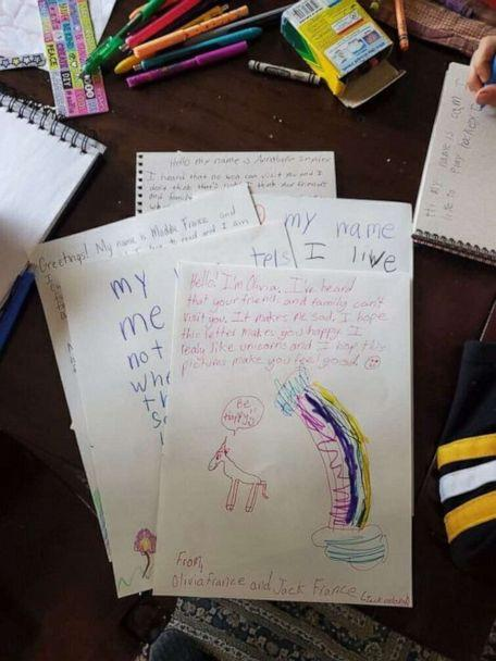 PHOTO: A group of siblings are turning their downtime into an opportunity to show kindness by sending handmade cards to seniors who are quarantined in assisted living facilities amid the coronavirus crisis. (Vanessa France)
