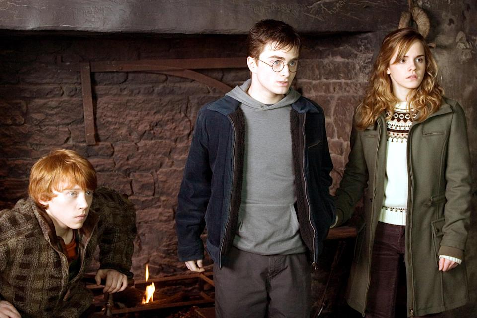 Rupert Grint, Daniel Radcliffe and Emma Watson in 2007's <em>Harry Potter and the Order of the Phoenix</em>. (Photo: Warner Bros. c/o Everett Collection)