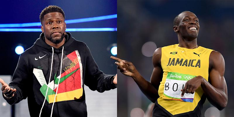 NBC used an image of Kevin Hart for a story about Usain Bolt.