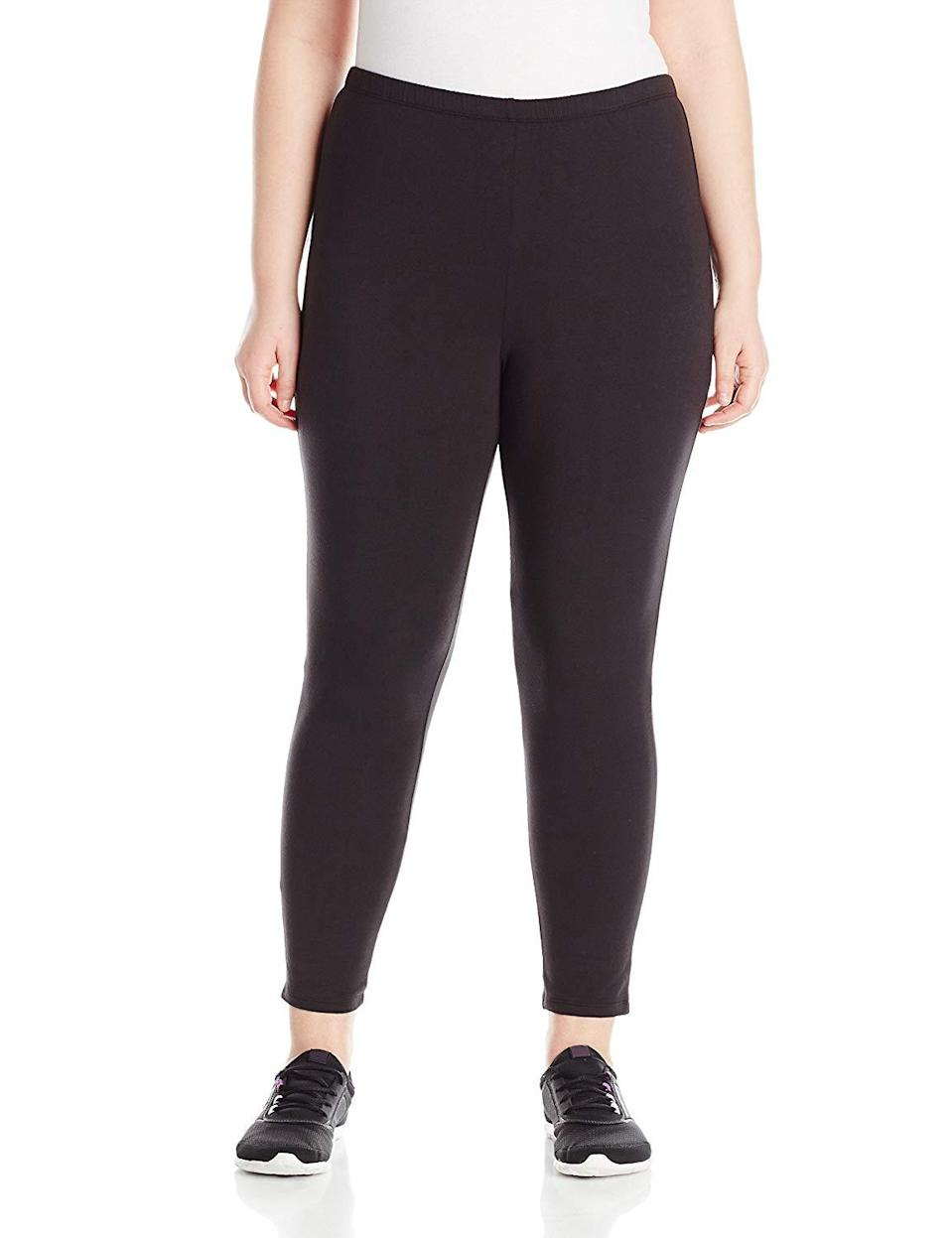 "<h3><a href=""https://www.amazon.com/Just-My-Size-Plus-Size-Stretch/dp/B01B3IT512/"" rel=""nofollow noopener"" target=""_blank"" data-ylk=""slk:Just My Size Plus-Size Jersey Legging"" class=""link rapid-noclick-resp"">Just My Size Plus-Size Jersey Legging</a> </h3><br><br>4.3 out of 5 stars and 2,740 reviews<br><br><strong>Promising Review: </strong>Consider this pair your new go-to for casual wear. <a href=""https://www.amazon.com/gp/customer-reviews/R10VNC1MXTDNDC/"" rel=""nofollow noopener"" target=""_blank"" data-ylk=""slk:One reviewer says"" class=""link rapid-noclick-resp"">One reviewer says </a> she lives in them because they don't fade with each wash. She also suggests this pair for shorter women: ""They are not paper thin like a lot of leggings. They have a little body to them, don't show every little 'bump' and are the perfect length for a short person. I like ankle length and that's where they come on me. I hope this style stays on Amazon so I can find them when I need them again.""<br><br><strong>Just My Size</strong> Plus-Size Stretch Jersey Legging, $, available at <a href=""https://www.amazon.com/Just-My-Size-Plus-Size-Stretch/dp/B01B3IT512/"" rel=""nofollow noopener"" target=""_blank"" data-ylk=""slk:Amazon"" class=""link rapid-noclick-resp"">Amazon</a>"
