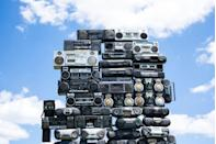 """<p>Popularized in the 1970s, these often massive portable stereo systems are still around today, though the new ones can't hold a candle to vintage models in terms of coolness or monetary value. The classics usually go for a couple hundred dollars on <a href=""""https://go.redirectingat.com?id=74968X1596630&url=https%3A%2F%2Fwww.ebay.com%2Fsch%2Fi.html%3F_fsrp%3D1%26_nkw%3Dvintage%2Bboombox%26_sacat%3D48626%26_udlo%3D150&sref=https%3A%2F%2Fwww.goodhousekeeping.com%2Flife%2Fg35334508%2Fvaluable-antiques-basement%2F"""" rel=""""nofollow noopener"""" target=""""_blank"""" data-ylk=""""slk:eBay"""" class=""""link rapid-noclick-resp"""">eBay</a> but if that old boombox in your basement is a Sanyo M-X920K, you might be able to score a couple thousand for it.</p>"""