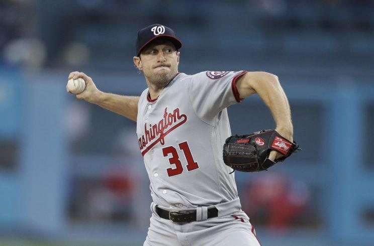 Max Scherzer doesn't have a problem pitching angry. (AP Photo)