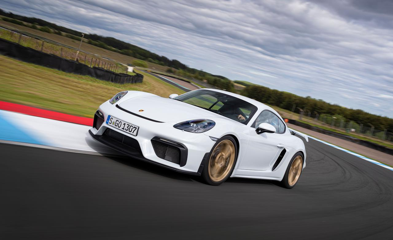 <p>The 2020 Porsche 718 Spyder and Cayman GT4 are the new top of the 718 model line and mark the return of the flat-six to Porsche's mid-engine lineup. With 414 horsepower, an 8000-rpm redline, and a six-speed manual as the only transmission option, they sell themselves.</p>