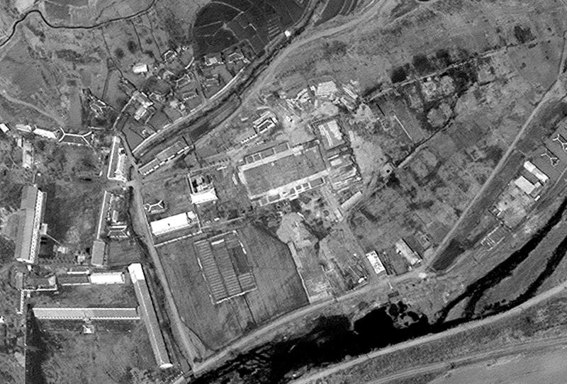 This April 29, 2012 satellite image provided by DigitalGlobe shows what appears to be the initial stages of construction of a rocket assembly building at Musudan-ri in northeastern North Korea. The U.S.-Korea Institute at Johns Hopkins School of Advanced International Studies says this building and a nearby launch pad under construction are upgrading facilities so the site can handle larger rockets, which could increase international concern over the secretive country's weapons programs. (AP Photo/DigitalGlobe)