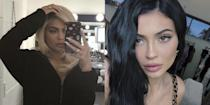<p>Looks like she made the swap once again. The hair color chameleon has given up the blond life for her signature shade of inky black.</p>