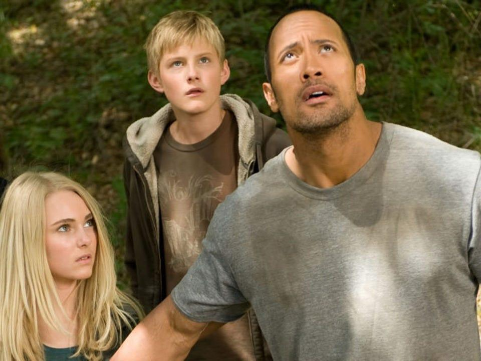 "Dwayne Johnson still figuring out the movie star thing in ""Race to Witch Mountain."""